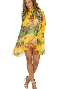 Floral Yellow Free Flow Dress