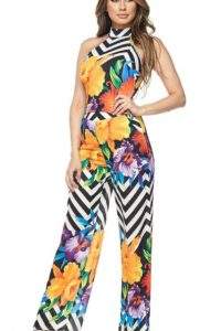 Kara Floral Stripe Pants Set
