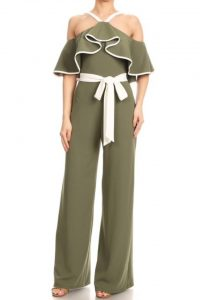 Abby Ruffle Top Jumpsuit